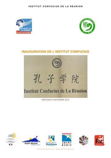 Inauguration Institut Confucius - Université de la Réunion