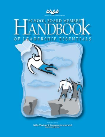 CASB Handbook text - Colorado Association of School Boards