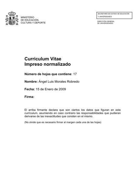 curriculum vitae normalizado uclm
