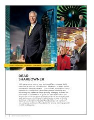 Shareowner Letter - United Technologies 2011 Annual Report