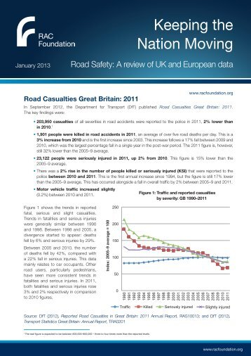 Road Safety: A review of UK and European data - RAC Foundation