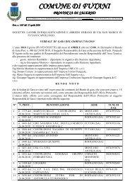 verbale di gara del 27 04 2010 - Comune di Futani