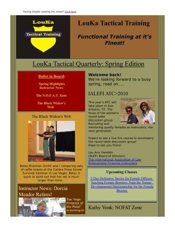 First Quarter 2010 - LouKa Tactical Training, LLC