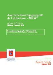 Règlement AAP AEU 2013 - Ademe Ile de France
