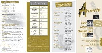 la plaquette 2013-2014 des activités - Bagnères de Bigorre