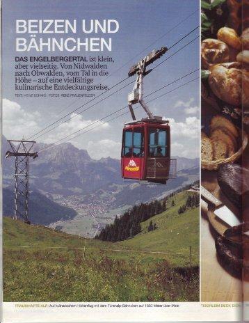 Beizen und Bähnchen, Schweizer Familie 08.2004 - Fürenalp