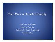 Teen Clinic in Berkshire County - Massachusetts League of ...