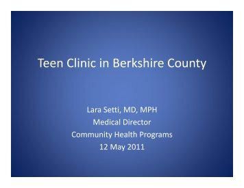 Teen Clinic in Berkshire County - Massachusetts League of ...