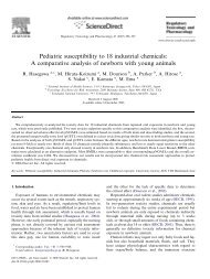 Pediatric susceptibility to 18 industrial chemicals: A ... - Tera