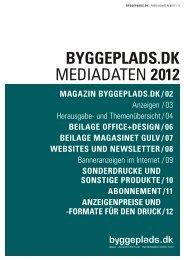 BYGGEPLADS.DK MEDIADATEN 2012