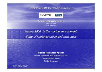Natura 2000 in the marine environment. State of ... - Countdown 2010