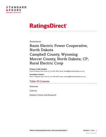 SP Rating - BEPC - 20120807.pdf - Basin Electric Power Cooperative