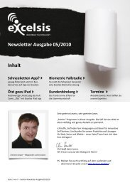 Excelsis Newsletter Ausgabe 5/2010 - Excelsis Business ...