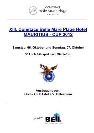 XIII. Constace Belle Mare Plage Hotel ... - Golf Club Eifel e.V.