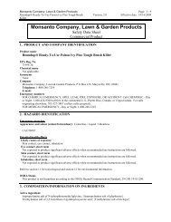 Monsanto Company, Lawn & Garden Products - Feldman Lumber