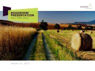 ROADSHOW PRESENTATION - Novozymes