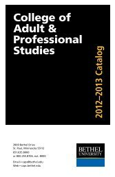 2012-2013 Catalog - College of Adult & Professional Studies