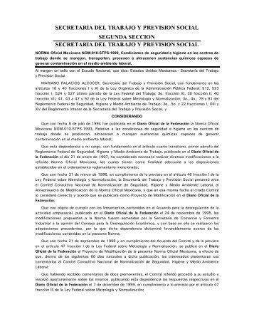 NOM-010-STPS-1999 - Normas Oficiales Mexicanas de Seguridad y ...