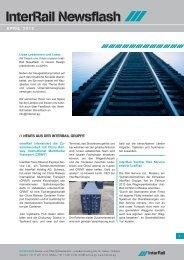 Weitere interessante News finden Sie hier in der - InterRail Holding ...