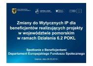 Zmiany do Wytycznych IP dla beneficjentów realizujących projekty w ...