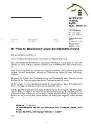 Einladung Vorreiter Deutschland Nordbaden - Reiterring Badische ...