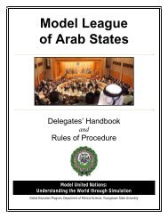 Model League of Arab States - Youngstown State University