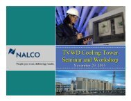 Nalco Company TVWD Cooling Tower Seminar and Workshop