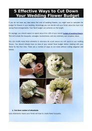 5 Effective Ways to Cut Down Your Wedding Flower Budget