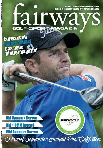 Fairways - Das Golfsport Magazin NR. 05/2014