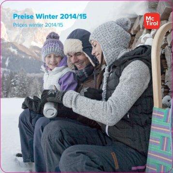 Preise Winter 2014/15