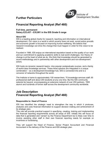 Job Description Job Title Financial Analyst Function Finance   Ppl