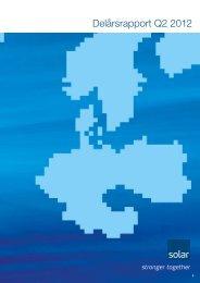 Delårsrapport Q2 2012 - Solar.eu