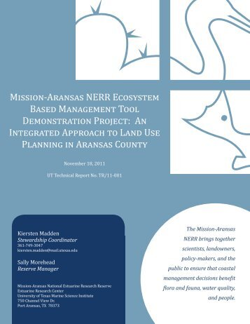 An Integrated Approach to Land Use Planning in Aran - Mission ...