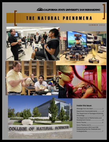 Summer 2012 - College of Natural Sciences