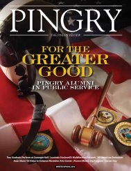 For the Greater Good - Pingry School