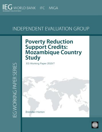 Poverty Reduction Support Credits: Mozambique ... - World Bank