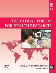 The Global Forum for Health Research - World Bank Internet Error ...