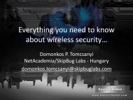 Everything you need to know about wireless ... - Hacker Halted