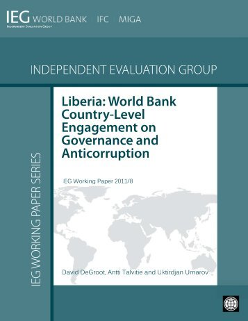 Liberia: World Bank Country-Level Engagement on Governance and ...