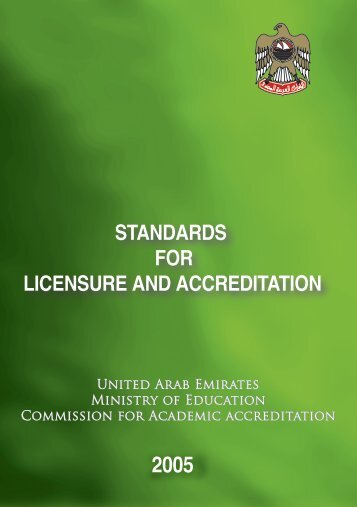 STANDARDS FOR LICENSURE AND ACCREDITATION - CAA