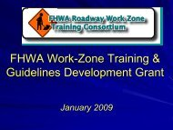 Bibliography Task Force Activities - National Work Zone Safety ...