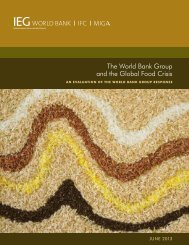 The World Bank Group and the Global Food Crisis - Independent ...