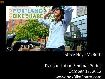Yellow Bikes - Center for Transportation Studies