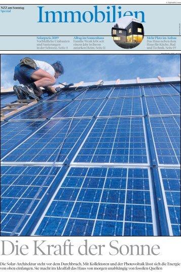 Die Solar-Architektur steht vor dem Durchbruch. Mit Kollektoren und ...