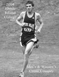 2004 Rhode Island College Men's & Women's Cross Country
