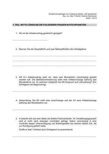 Wiederholungsfragen - Moorkamp, Gesche