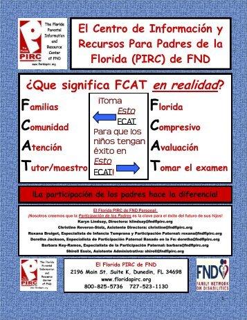 ¿Que significa FCAT en realidad? El Centro de Información y ...