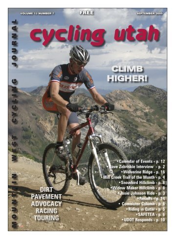 September 2005 Issue-2 - Cycling Utah