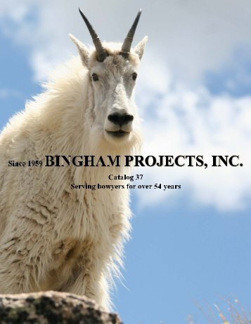 current catalog pdf - Bingham Projects