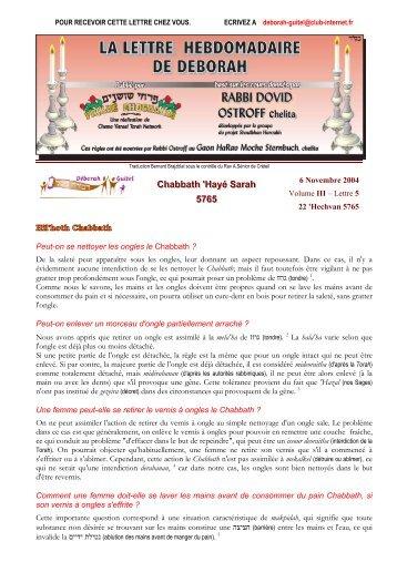 Volume III - lettre n°5 - Association Deborah Guitel